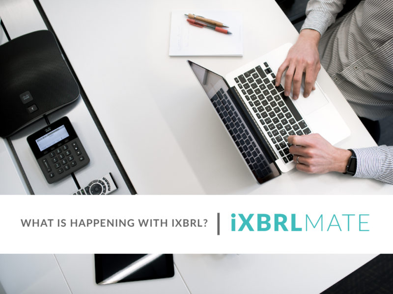What is happening with iXBRL?